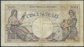 Rumänien / Romania P.032b 500 Lei 1938 (3-)