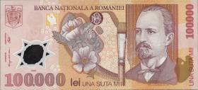 Rumänien / Romania P.114 100.000 Lei 2001 Polymer (2)