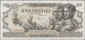 Rumänien / Romania P.065 100 Lei 1947 (1)