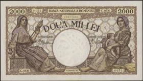 Rumänien / Romania P.053 2000 Lei 1941 (1)