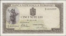 Rumänien / Romania P.051 500 Lei 1940-43 (2)