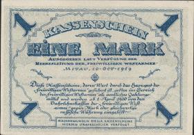 Mil-01 Freiwillige Westarmee 1 Mark 1919 (1)