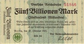 RVM-16b Reichsbahn Berlin 5 Billionen Mark 1923 (1)