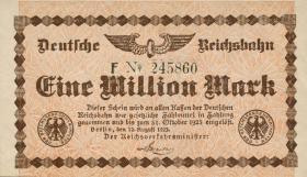 RVM-01a Reichsbahn Berlin 1 Million Mark 1923 (1)