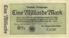 RVM-10a Reichsbahn Berlin 1 Milliarde Mark 1923 (1-)