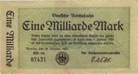 RVM-10a Reichsbahn Berlin 1 Milliarde Mark 1923 (3) 5-stellig