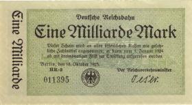 RVM-10b Reichsbahn Berlin 1 Milliarde Mark 1923 (1-)