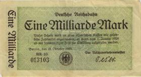 RVM-10b Reichsbahn Berlin 1 Milliarde Mark 1923 (3) 6-stellig