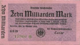 RVM-11 Reichsbahn Berlin 10 Milliarden Mark 1923 (3+)