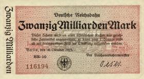 RVM-12 Reichsbahn Berlin 20 Milliarden Mark 1923 (1)