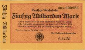 RVM-13 Reichsbahn Berlin 50 Milliarden Mark 1923 (2)