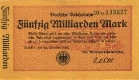 RVM-13 Reichsbahn Berlin 50 Milliarden Mark 1923 (1-)