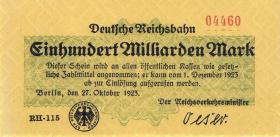 RVM-14a Reichsbahn Berlin 100 Milliarden Mark 1923 (1)