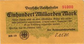 RVM-14a Reichsbahn Berlin 100 Milliarden Mark 1923 (2)