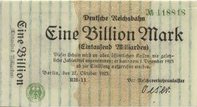 RVM-15 Reichsbahn Berlin 1 Billion Mark 1923 (1)