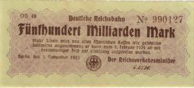 RVM-18c Reichsbahn Berlin 500 Milliarden Mark 1924 (2)