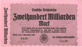 RVM-20 Reichsbahn Berlin 200 Milliarden Mark 1924 (1) 5-stellig