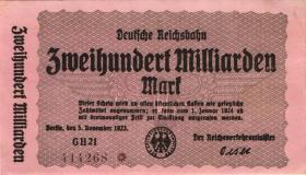 RVM-20 Reichsbahn Berlin 200 Milliarden Mark 1924 (2) 6-stellig