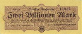 RVM-21 Reichsbahn Berlin 2 Billionen Mark 1923 (1)