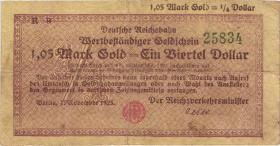RVM-27F Reichsbahn Berlin 1,05 Mark Gold = 1/4 Dollar 7.11.1923 (4)