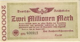 RVM-02 Reichsbahn Berlin 2 Millionen Mark 1923 (1)