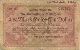 RVM-30b Reichsbahn Berlin 4,20 Mark Gold = 1 Dollar 7.11.1923 (4)