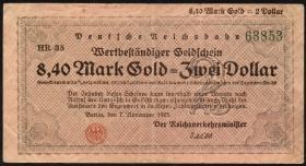 RVM-31 Reichsbahn Berlin 8,40 Mark Gold = 2 Dollar 7.11.1923 (3)