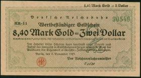 RVM-31 Reichsbahn Berlin 8,40 Mark = 2 Dollar 7.11.1923 (1)
