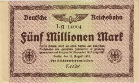 RVM-03b Reichsbahn Berlin 5 Millionen Mark 1923 (2)
