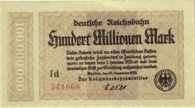 RVM-07 Reichsbahn Berlin 100 Millionen Mark 1923 (1-)