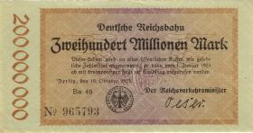 RVM-08 Reichsbahn Berlin 200 Millionen Mark 1923 (1-)