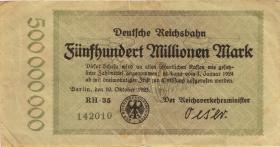 RVM-09 Reichsbahn Berlin 500 Millionen Mark 1923 (3)