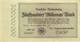RVM-09 Reichsbahn Berlin 500 Millionen Mark 1923 (1-)