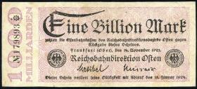 PS1237 Reichsbahn Frankfurt (Oder) 1 Billion Mark 1923 (3)