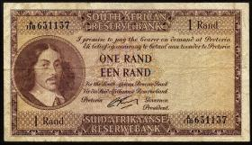 Südafrika / South Africa P.102b 1 Rand (1962-65) (3-)