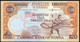 Samoa P.35b 20 Tala (2002) (1)