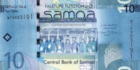 Samoa P.39a 10 Tala (2008) (1)