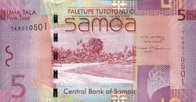 Samoa P.38a 5 Tala (2008) (1)