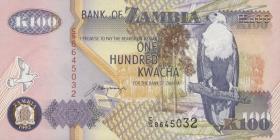 Sambia / Zambia P.38b 100 Kwacha 1992 (1)