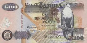 Sambia / Zambia P.38f 100 Kwacha 2006 (1)