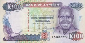 Sambia / Zambia P.34 100 Kwacha (1991) (1)