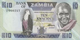 Sambia / Zambia P.26e 10 Kwacha (1980-88) (1)