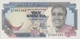 Sambia / Zambia P.31a 10 Kwacha (1989-91) (1)