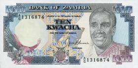 Sambia / Zambia P.31b 10 Kwacha (1989-91) (1)