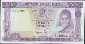 Sambia / Zambia P.13c 20 Kwacha (1969) (1)