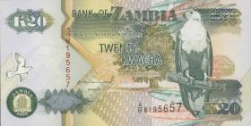 Sambia / Zambia P.36a 20 Kwacha 1992 (1)