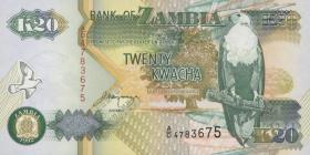 Sambia / Zambia P.36b 20 Kwacha 1992 (1)