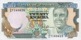 Sambia / Zambia P.32b 20 Kwacha (1989-91) (1)