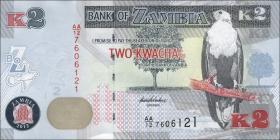 Sambia / Zambia P.49a 2 Kwacha 2012 (1)