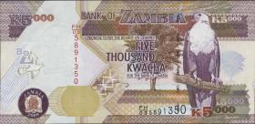 Sambia / Zambia P.45e  5000 Kwacha 2009 (1)